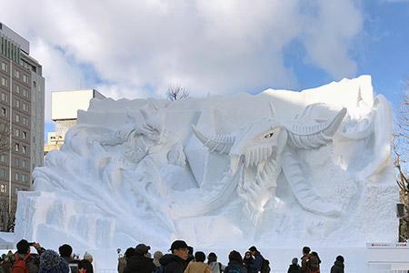 圧倒的な迫力の大雪像