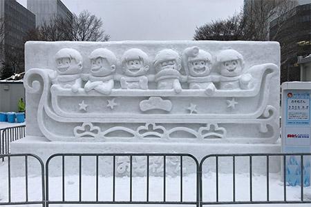 おそ松くんの雪像
