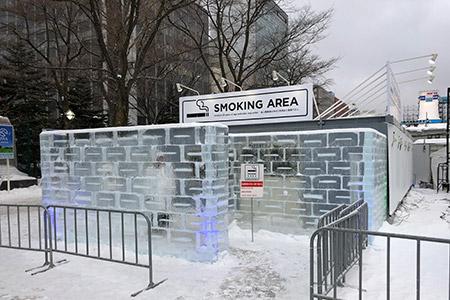雪まつり会場の喫煙マナー