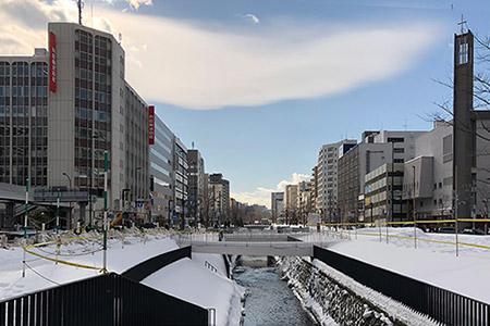 札幌市内の冬景色