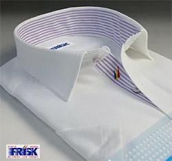 通気性抜群のスポーツにも適した機能素材を使ったビジネスシャツ